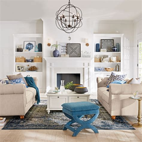 living room retreat with a coastal feel in this living welcome home 2017 summer decor catalog