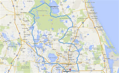 Map Lop Air Mail B5 ocala national forest loop motorcycle ride eaglerider