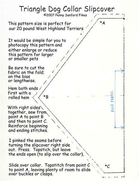 slipcover pattern for collar cat dog stuff pinterest