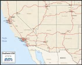 southwest usa map to print