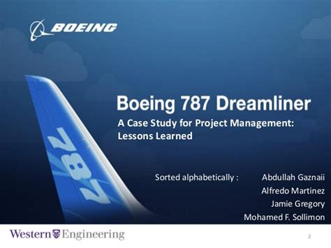 boeing  dreamliner project lessson learned