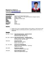 resume format pdf for 12th pass student sle resume for ojt