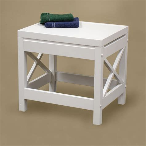 Vanity Benches For Bathroom Riverridge 174 06 00 X Frame Stool Bathroom Vanity Atg Stores