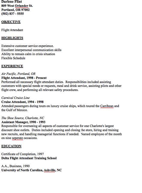 flight attendant description resume sle flight attendant duties and responsibilities resume resume ideas