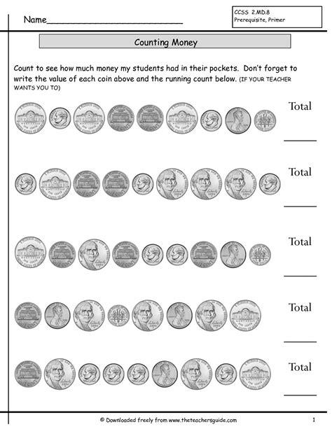 mixed coins worksheet counting coins worksheets without