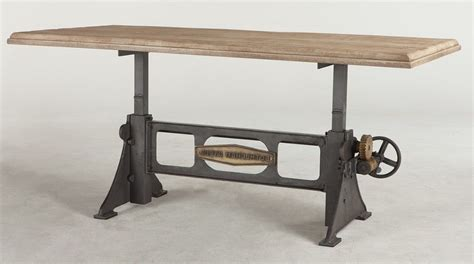 Mango Wood Table L by 72 Quot L Crank Dining Table Solid Mango Wood Top Iron Brass