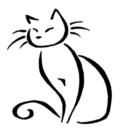 tattoo cat drawing 178 best line drawings cats dogs images on pinterest