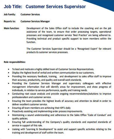 Customer Service Supervisor Resume by 8 Sle Customer Service Resumes Sle Templates