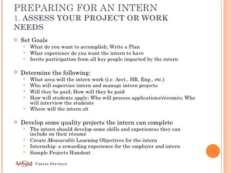 Considering An Internship Program Internship Project Plan Template