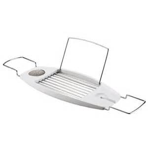 umbra oasis expandable bathtub caddy white 020395 660