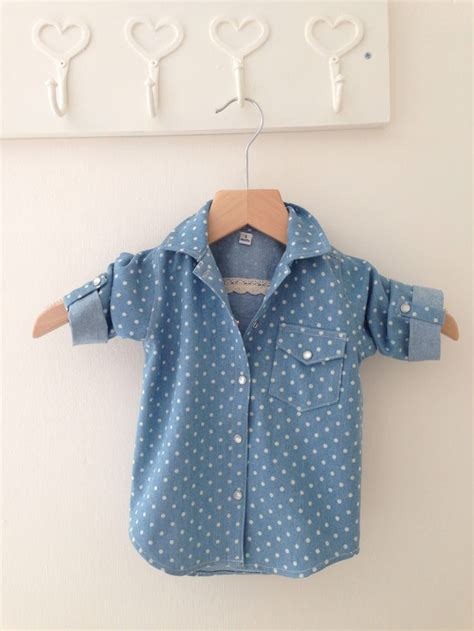 baby denim shirt baby polka dot denim shirt my sewing portfolio