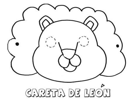 dibujos para colorear de leones actividades infantiles y imprimir careta de le 243 n dibujos para colorear con los ni 241 os