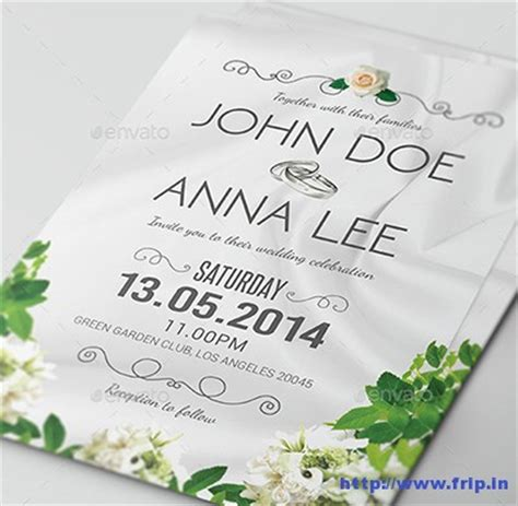 Simple Marriage Invitation Cards by 100 Best Wedding Invitation Card Print Templates 2015