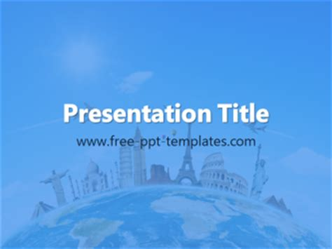 powerpoint template travel travel ppt template free powerpoint templates