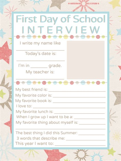 day of school template day of school printable school
