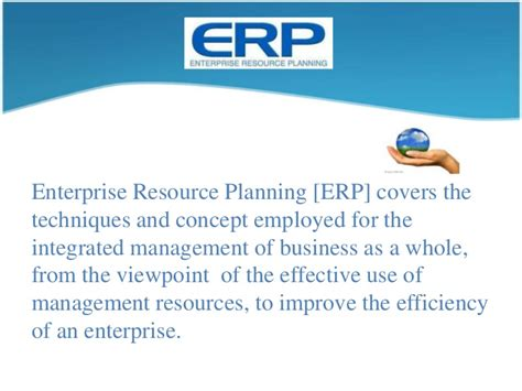 Mba In Enterprise Resource Planning by Erp E Commerce