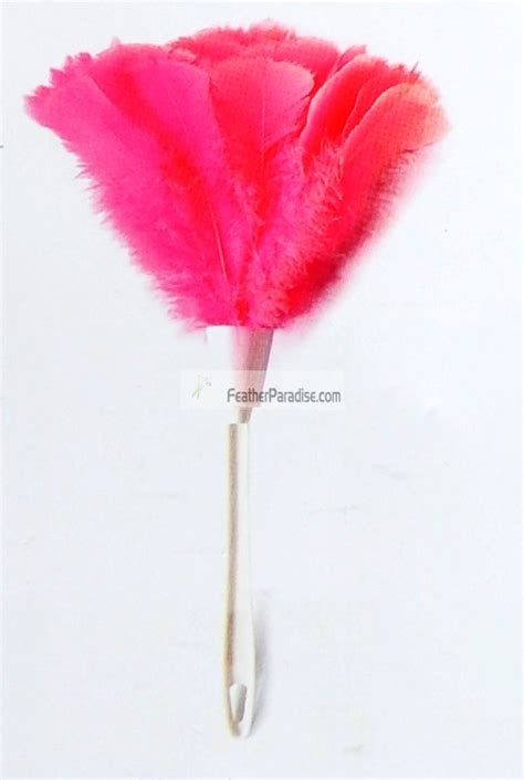 hot pink turkey feather duster feather tickler wholesale bulk discount cheap hight quality  price