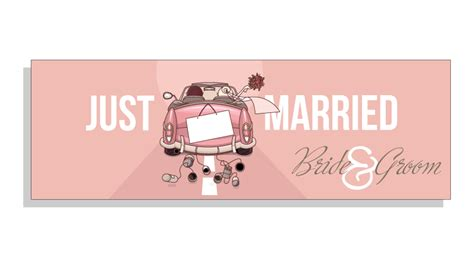 Wedding Banner Size by Just Married Wedding Banner Banner Co Uk