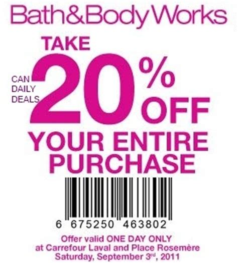 comfort works coupon canadian daily deals bath and body works canada save 20