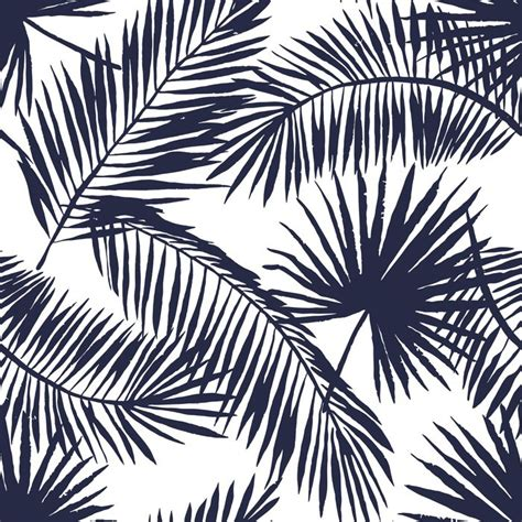 White Home Interiors palm leaves silhouette on the white background vector