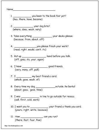 printable english worksheets year 4 cloze reading activities 2nd grade koala lou cloze