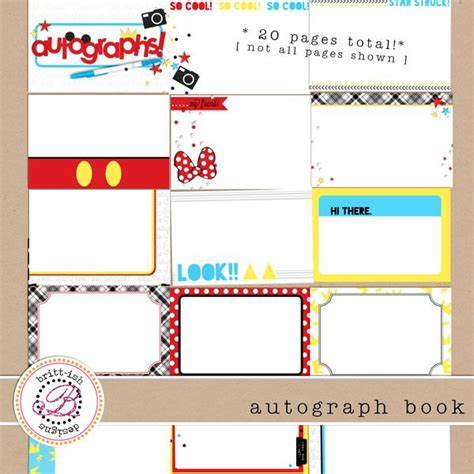 disney world autograph book template free printable autograph book disney free