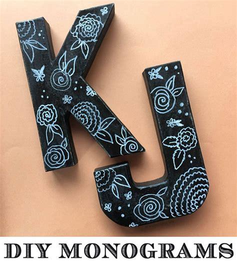 monogram diy projects d i y vintage monogram letters craft mospens studio