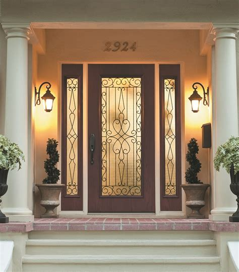 glass doors with enclosed bllinds plus screen wrought iron and glass front entry door designs zabitat