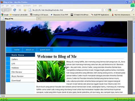 cara membuat web sederhana menggunakan dreamweaver membuat blog sederhana blog sederhana