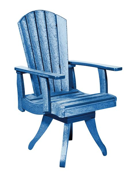 blue swivel chair generations blue swivel dining arm chair from cr plastic