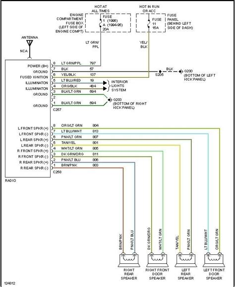 1998 ford f150 radio wiring diagram fuse box and wiring