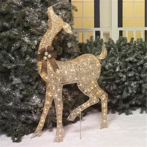 outdoor lighted deer 52 quot outdoor lighted display deer yard decor