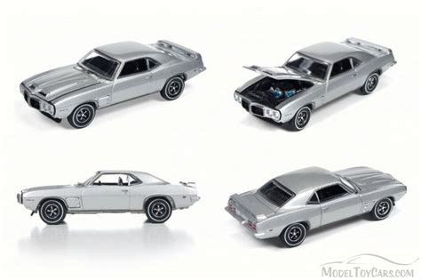 1969 Pontiac Firebird By Auto World 1 64 Scale 1969 pontiac firebird trans am silver mist auto world aw64052 48a 1 64 scale diecast model
