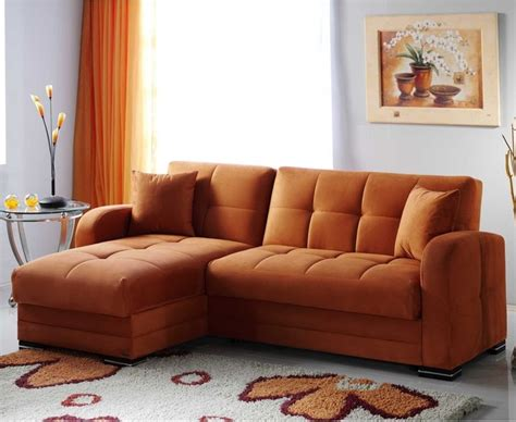 Kubo Rainbow Orange Sectional Sofa Contemporary Houzz Sectional Sofas