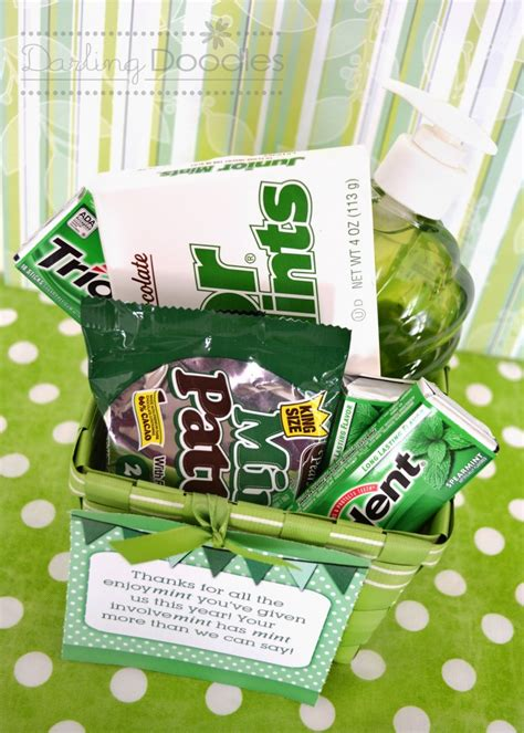 doodle gift ideas end of the year gift idea mint basket doodles