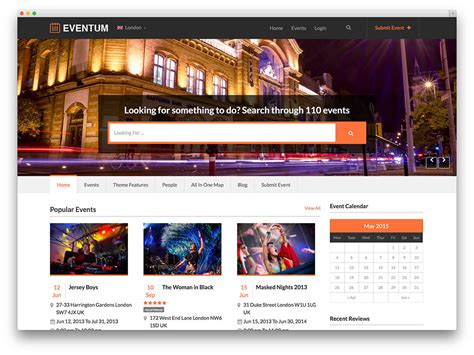 30 Best Directory Wordpress Themes 2019 Colorlib Event Booking Website Template