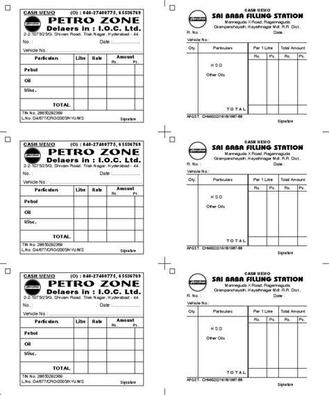 petrol receipt template petrol bills