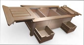 table basse fabriquer une table basse coffre