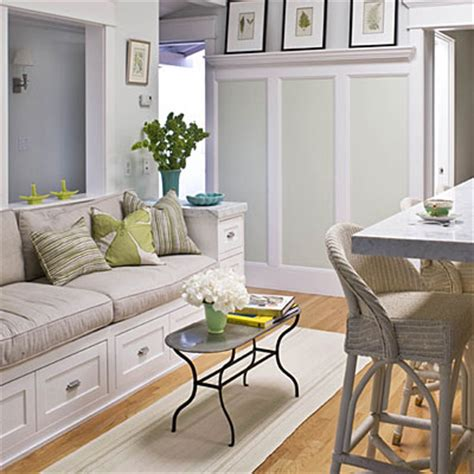 small kitchen sofa fitting in labor of love coastal living