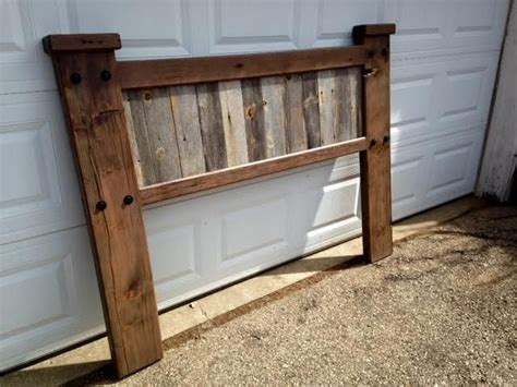 barn wood headboard by boone s woodshed woodworking