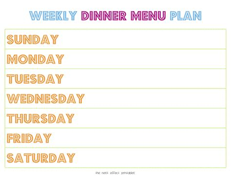 weekly dinner planner template printable weekly menu planner new calendar template site 25 best ideas about meal planner printable on pinterest