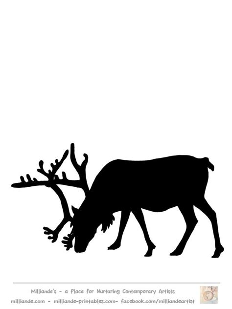 Best 25 Reindeer Silhouette Ideas On Pinterest Deer Head Stencil Deer Head Silhouette And Reindeer Silhouette Template