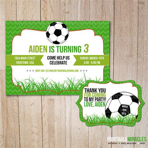 printable birthday cards soccer printable soccer birthday invitation from