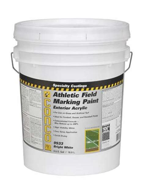 conco ultra bright white athletic field marking paint 5 gal at menards 174