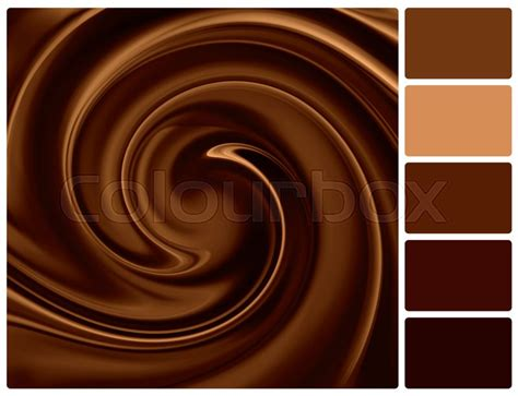chocolate color background of chocolate colour palette stock photo