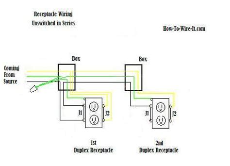 how to wire an outlet from another outlet diagram wiring