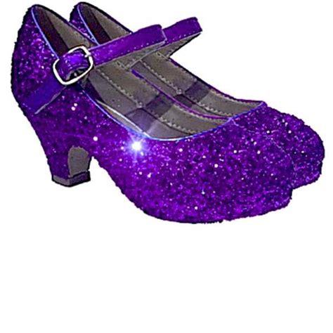 flower purple shoes sparkly glitter heels flower birthday pageant shoes
