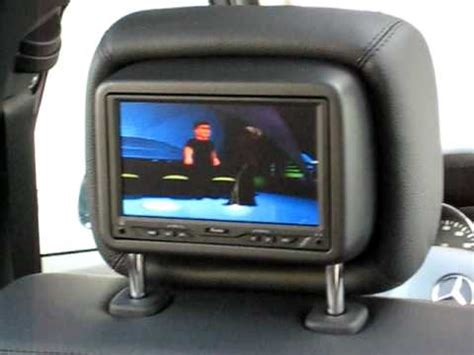 mercedes benz   dual dvd headrest youtube