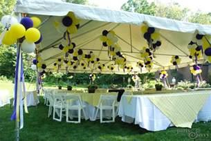 a purple amp gold graduation party partysavvy