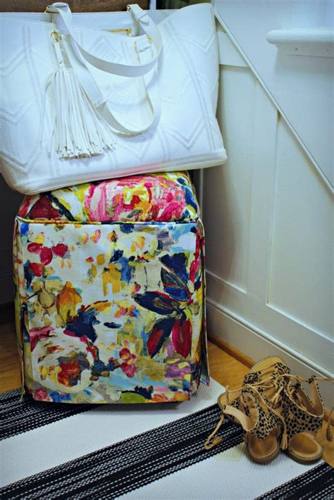 Colorful Entryway Table A Small Front Entryway With Diy Painted Stairs And